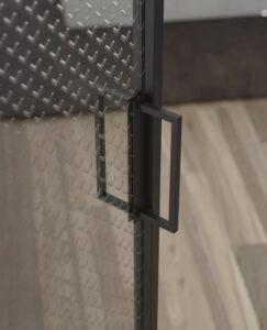 Porte in vetro in stile industrial